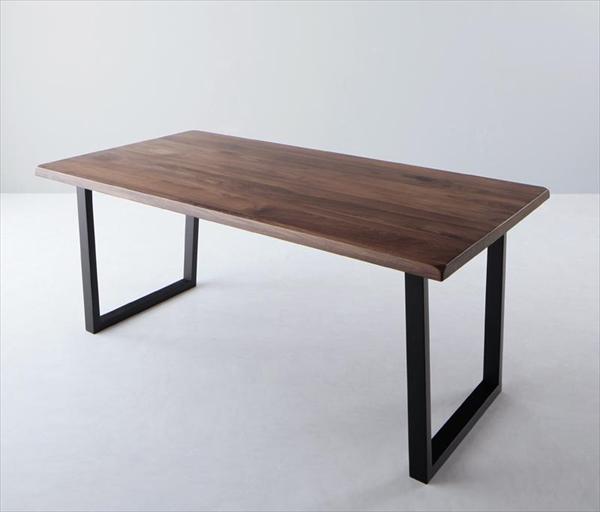 ウォールナット無垢材モダンデザインダイニング Clam クラム ダイニングテーブル W180  「天然木 ウォールナット無垢材 テーブル 重圧感あるデザイン 天板の厚さはなんと40mm 木目 美しい」