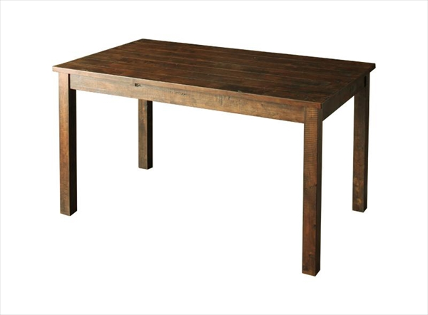 古木風ヴィンテージダメージ加工ダイニング Zinnia ジーニア ダイニングテーブル W135 「ダイニングテーブル 天然木無垢材 古木風ヴィンテージ天板 木目」