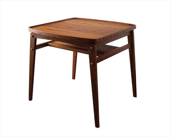 天然木モダンデザインダイニング alchemy アルケミー ダイニングテーブル W80 単品  「天然木 アカシア材 北欧 棚付きテーブル 機能性にも優れたダイニング 木目 シンプル 」