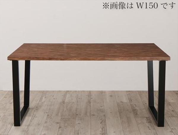古木風×スチール脚ナチュラルモダンデザインダイニング FOLKIS フォーキス ダイニングテーブル W120 「ダイニング テーブル 古木風ヴィンテージ天板 」