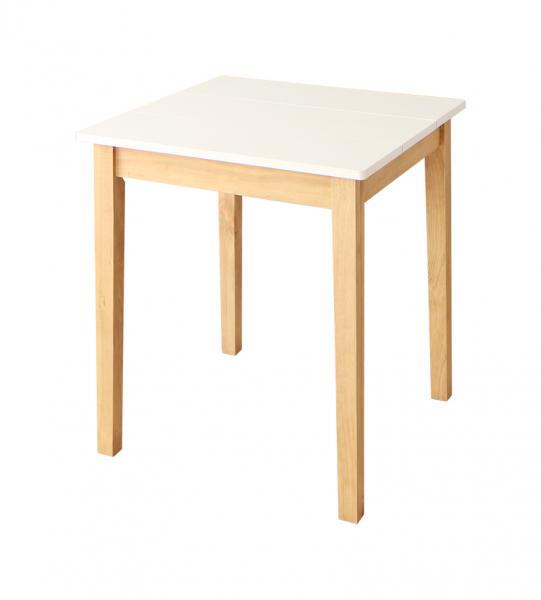 W68cm スクエアサイズのコンパクトダイニングテーブルセット FAIRBANX フェアバンクス ダイニングテーブル ホワイト×ナチュラル W68