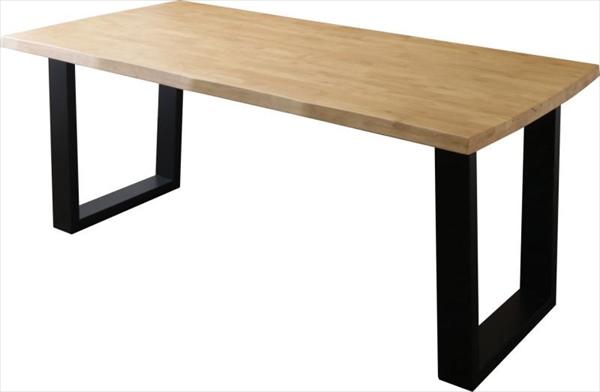 天然木無垢材ヴィンテージデザインダイニング NELL ネル ダイニングテーブル W180  「天然木 ラバーウッド無垢材 テーブルW180 天板厚さ4cm コの字 木目 美しい」