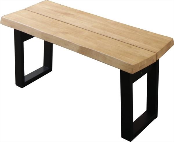 天然木無垢材ヴィンテージデザインダイニング NELL ネル ベンチ 2P  「天然木 ラバーウッド無垢材 ベンチ2P コの字 チェア 木目 美しい」