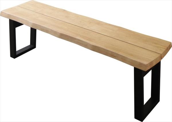 天然木無垢材ヴィンテージデザインダイニング NELL ネル ベンチ 3P  「天然木 ラバーウッド無垢材 ベンチ3P コの字 チェア 木目 美しい」