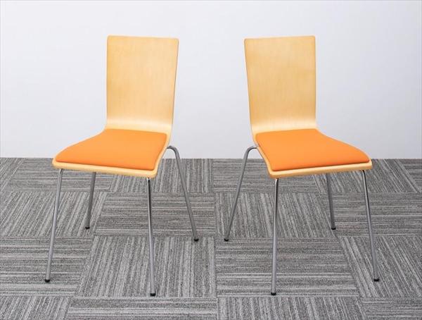 多彩な組み合わせに対応できる 多目的オフィスワークテーブルセット CURAT キュレート オフィスチェア 2脚組  「オフィス家具 スタッキングチェア ダイニングチェア」