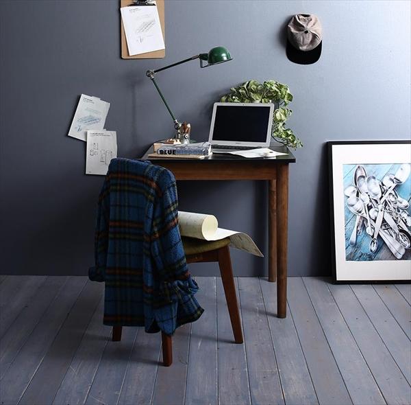 カフェ ヴィンテージ ダイニング Mumford マムフォード 2点セット(テーブル+チェア1脚) ブラック×ブラウン W68   「モダン ダイニング2点セット ダイニングテーブル デザインチェア 木目 美しい チェア いす」