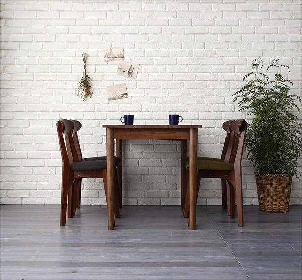 カフェ ヴィンテージ ダイニング Mumford マムフォード 5点セット(テーブル+チェア4脚) ブラック×ブラウン W115   「モダン ダイニング5点セット ダイニングテーブル デザインチェア 木目 美しい チェア いす」