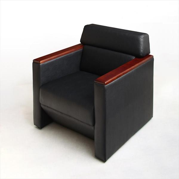 期間限定 条件や目的に応じて選べる高級木肘デザイン応接ソファセット Office Grade オフィスグレード ソファ 1P 「家具 インテリア ソファーセット 合皮 1人掛け ソファ オフィスロード リビング 北欧 」