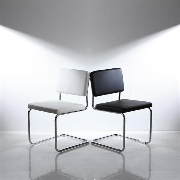 鏡面仕上げ スライド伸縮テーブルアーバンモダンデザインダイニングセット Lubey リュベ ダイニングチェア 2脚組 「ダイニングチェア デザインチェア チェア 肌触り ソフトレザー 疲れにくい 座り心地 いす イス 椅子」