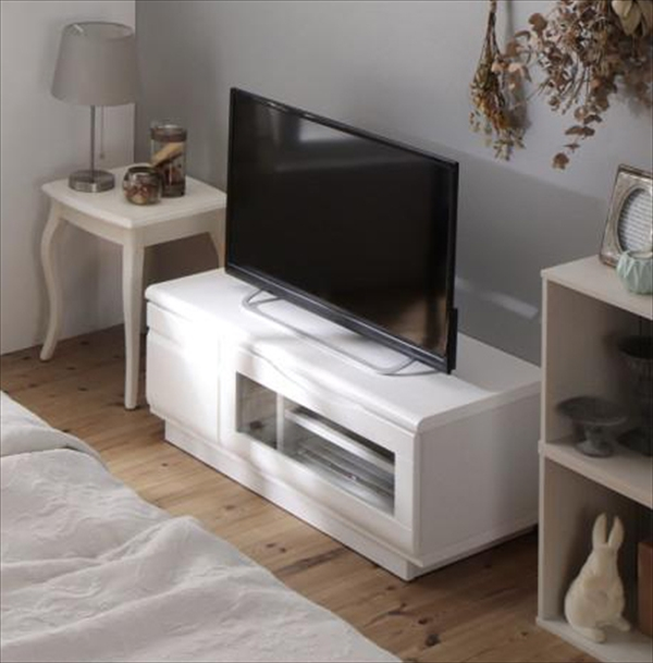 完成品シンプルデザインテレビボード Dotch ドッチ 幅90  「家具 インテリア テレビ台 TVボード 32V型まで 収納力抜群 重圧感 リモコンOK 背面化粧 美しい」