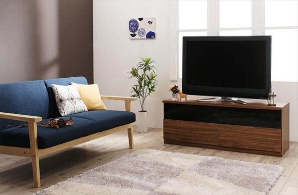 北欧モダンリビングファニチャーシリーズ Furnina ファーニナ 2点セット(ソファ+テレビ台) 2P  北欧木肘ソファ 選べるソファと収納家具 木目が美しい ウォルナット調 リビング家具 全9パターン