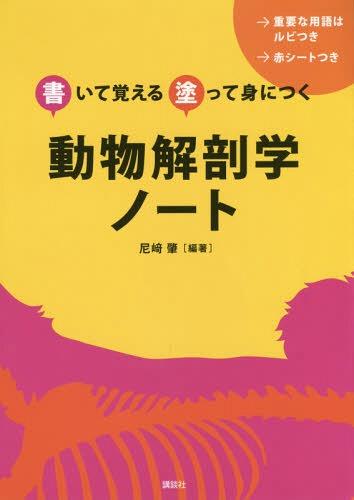 メール便利用不可 動物解剖学ノート 日本最大級の品揃え 書いて覚える塗って身につく 蔵 本 雑誌 尼崎肇 編著