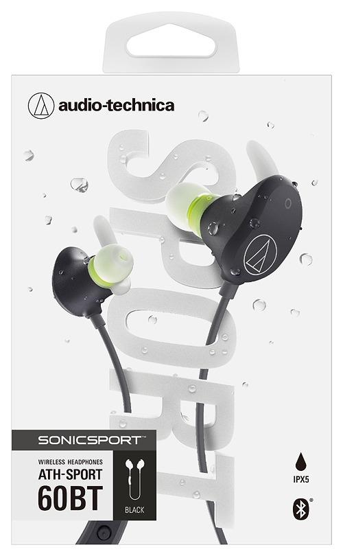 【オーディオテクニカ】[SONICSPORT] audio-technica/Bluetooth対応ワイヤレスヘッドホン/ATH-SPORT60BT BK ブラック[グッズ]