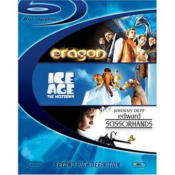 エラゴン 遺志を継ぐもの+アイス・エイジ2+シザーハンズ ブルーレイディスク スターターBOX [Blu-ray] / 洋画