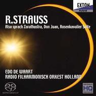 R.シュトラウス:「ツァラトゥストラはかく語りき」「ドン・ファン」「ばらの騎士」組曲 [90枚限定盤] [SACD] / エド・デ・ワールト (指揮)