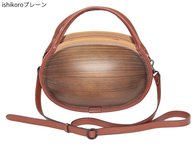 日本製 木製バッグ monacca ishikoro バッグ レディース ショルダー 小さめ ブランド 本革 軽量 ショルダーバッグ トートバッグ 手提げカバン 手提げ 2way カジュアル おしゃれ 本革 ショルダーバック トートバック 女性 ブラウン
