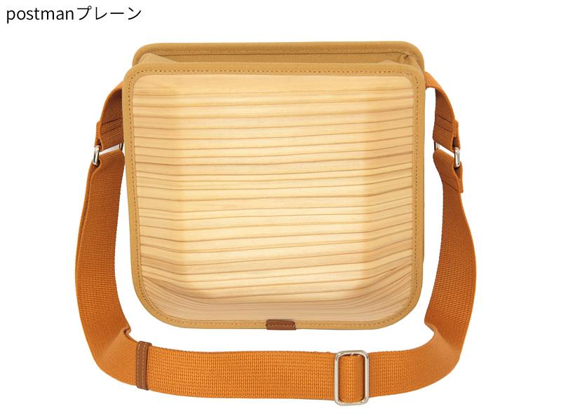 日本製 木製バッグ monacca postman ビジネスバッグ メンズ ブランド 本革 ダブルファスナー ショルダーバッグ ビジネスバック ショルダーバック カジュアル おしゃれ 本革 男性 紳士 プレーン