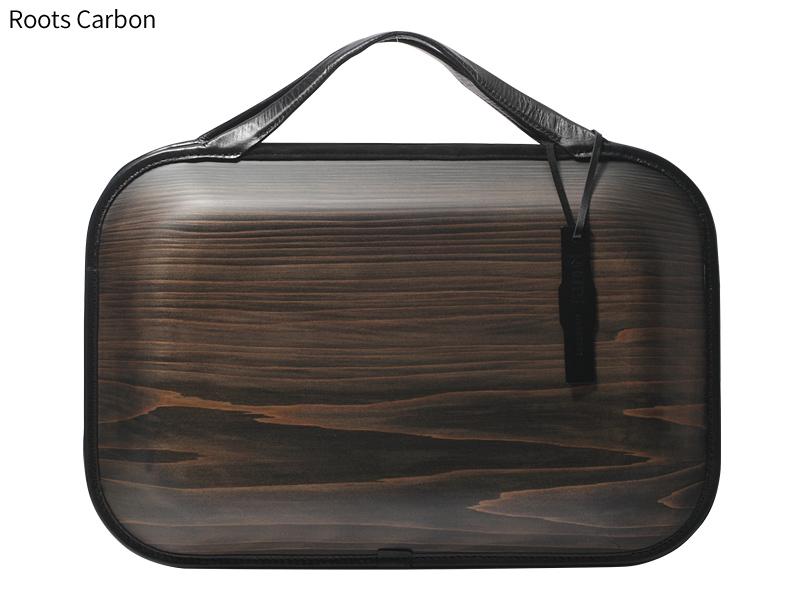 日本製 木製バッグ monacca Roots ビジネスバッグ メンズ ブランド 本革 ダブルファスナー 2way ブリーフケース ブリーフバッグ ショルダーバッグ B4サイズ ビジネスバック ショルダーバック カジュアル おしゃれ 本革 男性 紳士 カーボン ブラック 黒 代引き不可