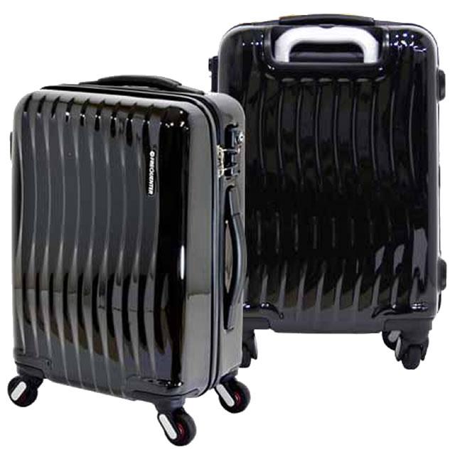 スーツケース 機内持ち込み 軽量 フレーム キャリーケース キャリーバッグ キャリーバック おしゃれ ビジネス ハードケース TSAロック S/M Sサイズ トラベルバッグ ファスナー 2~4泊 34L FREQUENTER 1-622 クロ 代引不可