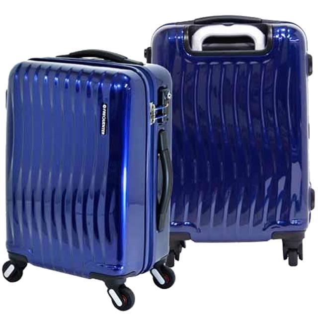 スーツケース 機内持ち込み 軽量 フレーム キャリーケース キャリーバッグ キャリーバック おしゃれ ビジネス ハードケース TSAロック S/M Sサイズ トラベルバッグ ファスナー 2~4泊 34L FREQUENTER 1-622 コン ネイビー 代引不可