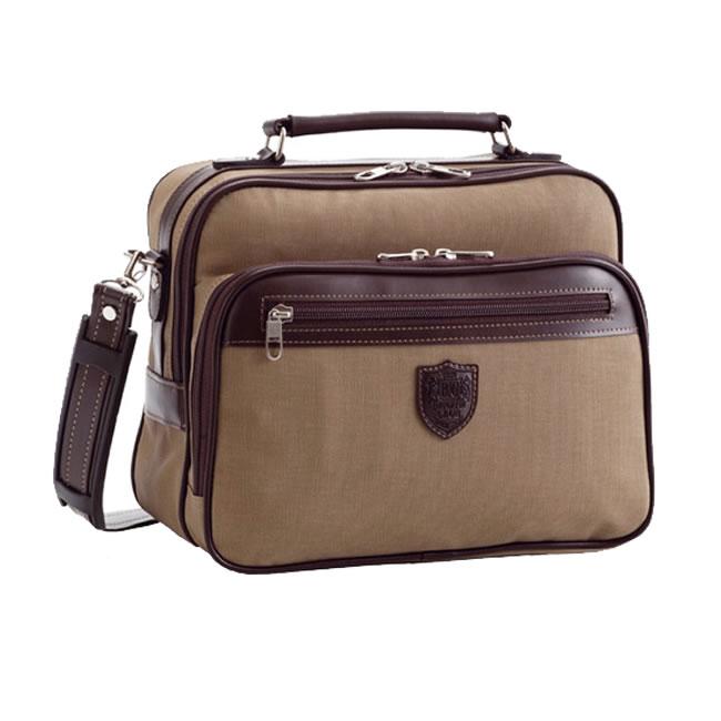 ショルダーバッグ かばん ベージュ ショルダーバッグ 革 斜めがけ 男性用・紳士用・鞄 横型 2way 合成皮革 メンズバック 豊岡製鞄 日本製 B5 レザー 帆布 豊岡 旅行鞄 ヨコ型 メンズ