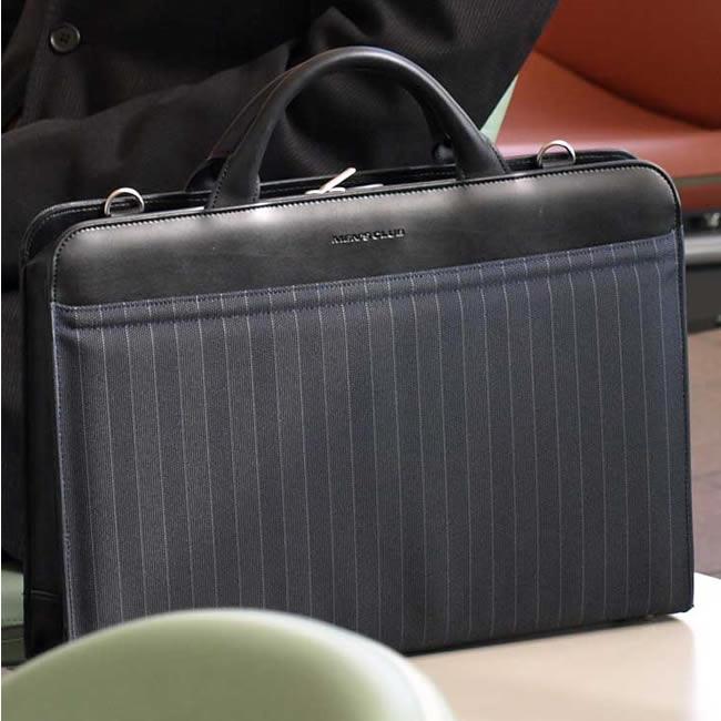 在日本豊袋公文包男装条纹黑色 A4 37 厘米尼龙浅包袋商务男士男士袋,袋,袋