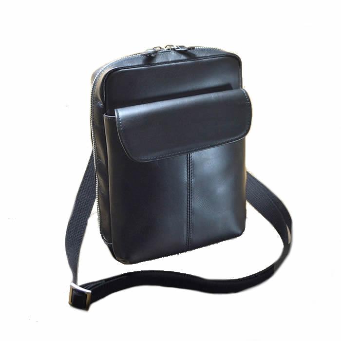 ショルダーバッグ メンズ 斜めがけ 本革 縦型 軽量 日本製 かばん ショルダーバッグ メンズ 斜めがけバッグ 縦型 A5 コンパクト スリム 牛革 レザー メンズ ビジネス ショルダーバッグ 本革鞄 A5 黒