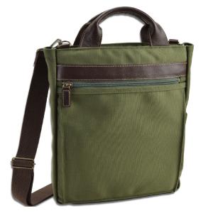 ショルダーバッグ メンズ 斜めがけ 日本製 豊岡製鞄 豊岡 かばん 2way 縦型 タテ型 たて型 軽量 ショルダーバッグ メンズバック 斜めがけ 帆布 旅行鞄 男性用 紳士用 鞄 A4 カーキ