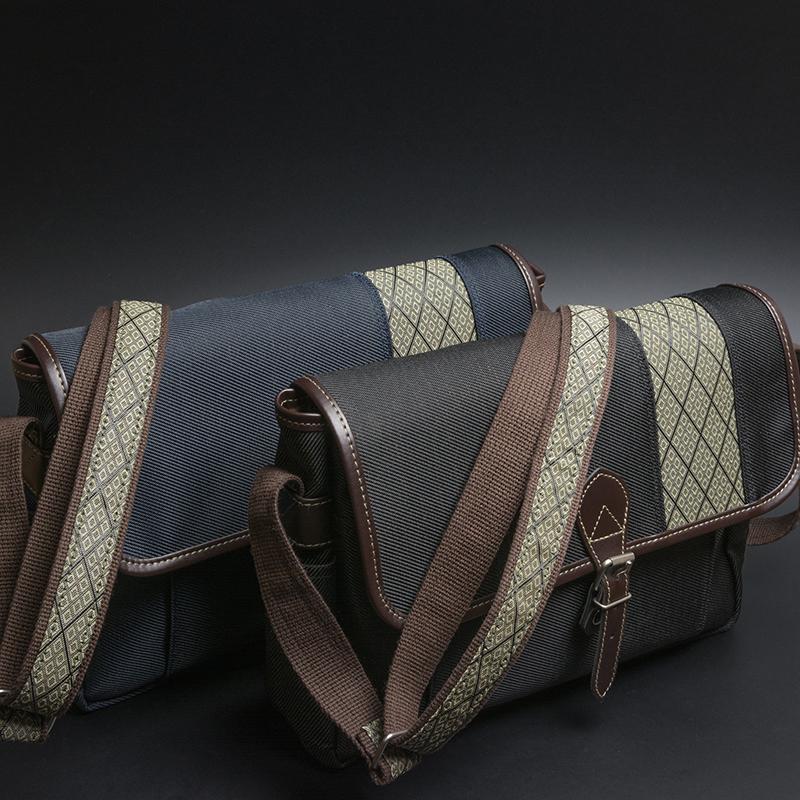 ショルダーバッグ メンズ 斜めがけ メッセンジャーバッグ ポストマンバッグ カブセ蓋 日本製 豊岡製鞄 豊岡  鞄の国 かばん 縦型 ショルダー付属  ウスマチ 菱文様 和柄 混紡 メンズバック ビジネス トート バッグ バック 横型 A4