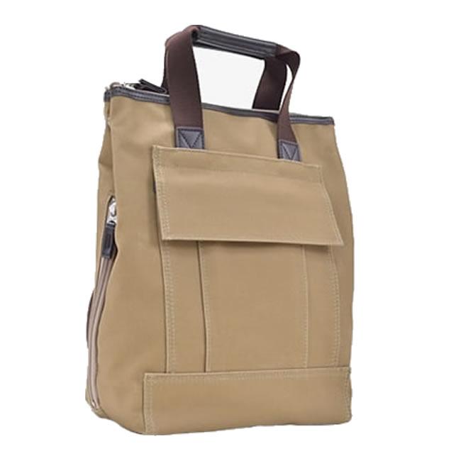 ショルダーバッグ メンズ リュック ディバッグ 日本製 豊岡製鞄 豊岡 かばん 帆布 ショルダーバッグ、リュック、手持ち 3way 縦型 タテ型 たて型 軽量 ショルダーバッグ メンズバック 旅行鞄 男性用 紳士用 鞄 A4 ベージュ