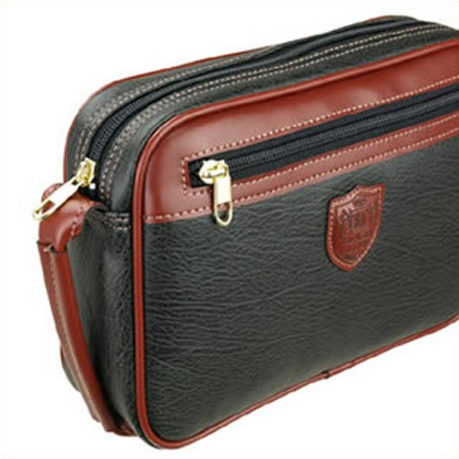 133515a4273 Second bag handle strap men porch 合皮革 leather second bag men bag 25cm black  black ...
