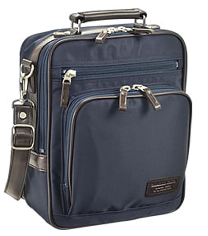 ショルダーバッグ ビジネスバッグ B5 メンズ 肩掛け 斜めがけ 日本製 豊岡製鞄 ツイルナイロン 軽量 旅行 男性用 縦型 黒 紺 26cm ブレザークラブ BLAZER CLUB