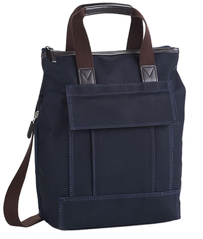ショルダーバッグ メンズ リュック ディバッグ 日本製 豊岡製鞄 豊岡 かばん 帆布 ショルダーバッグ、リュック、手持ち 3way 縦型 タテ型 たて型 軽量 ショルダーバッグ メンズバック 旅行鞄 男性用 紳士用 鞄 A4 紺 ネイビー