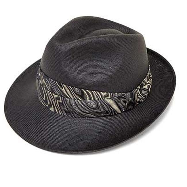 日本製 ストローハット ブンタールハット 中折れハット 中折れ帽 アジロ編み ブンタールハット/ラメマーブル織り巻き(ブラック)MGARYU PLANET ガリュープラネット 国産 メンズ・紳士 男性用 帽子 ハット