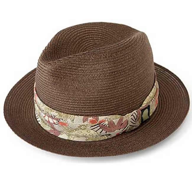 日本製 中折れ帽 麻100% やわらかブレードハット 和柄 (焦茶)GARYU PLANET ガリュープラネットメンズ・紳士 男性用 帽子 ハット 誕生日バレンタイン 父の日 ギフト プレゼント