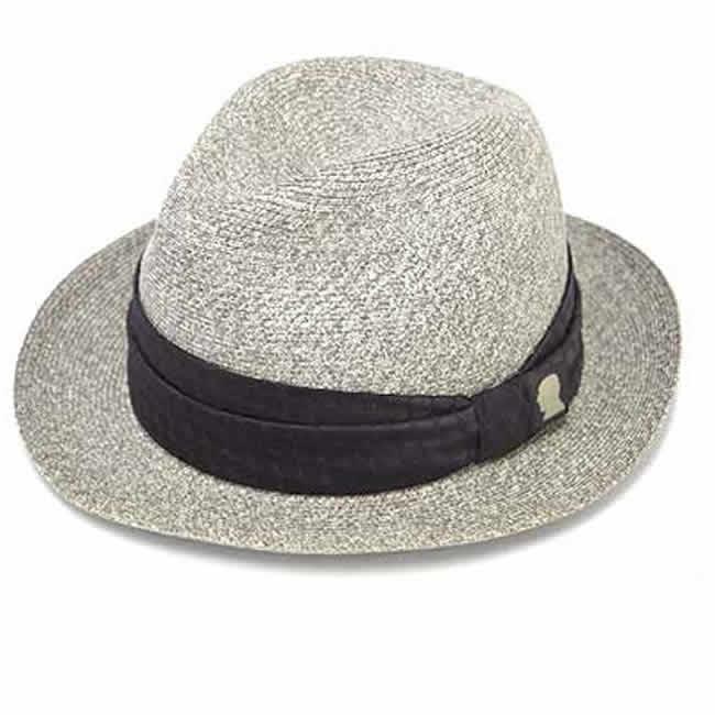日本製 中折れ帽 ペーパーハット エクストラファイン ブレードハット グレイ ストローハットGARYU PLANET ガリュープラネットメンズ・紳士 男性用 帽子 ハット 誕生日バレンタイン 父の日 ギフト プレゼント