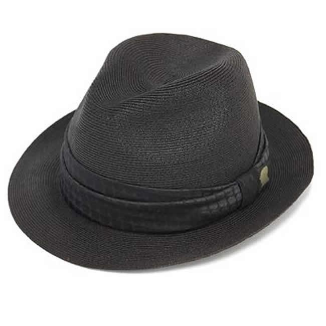 日本製 中折れ帽 ペーパーハット エクストラファイン ブレードハット ブラック ストローハットGARYU PLANET ガリュープラネットメンズ・紳士 男性用 帽子 ハット 誕生日バレンタイン 父の日 ギフト プレゼント