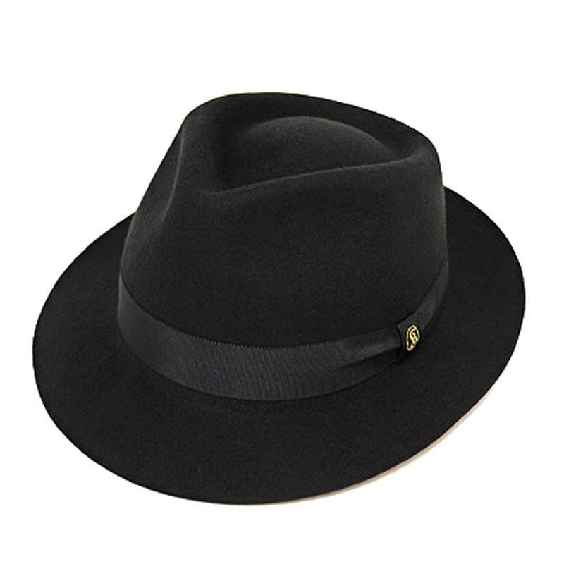 日本製 中折れハット メンズ 中折れ帽 中折れ 帽子 毛 ボリビア ウール フェルト クラシックハット 黒 GARYU PLANET ガリュープラネット メンズ・紳士 男性用 女性 男女兼用 帽子