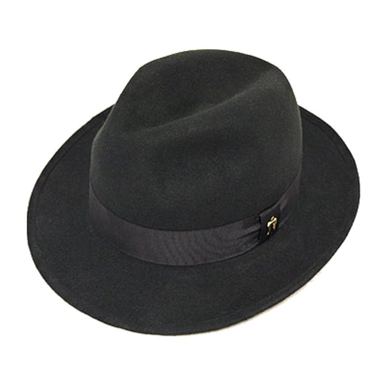 日本製 中折れハット メンズ 中折れ帽 中折れ 帽子 毛 ウールフェルト中折れハット(黒色) GARYU PLANET ガリュープラネット メンズ・紳士 男性用 女性 男女兼用 帽子