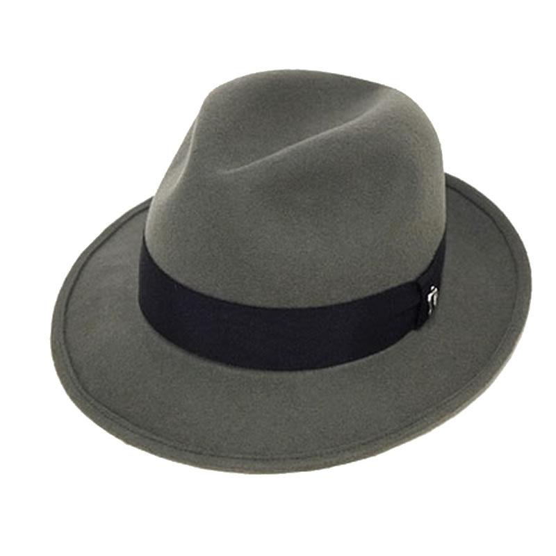 日本製 中折れハット メンズ 中折れ帽 中折れ 帽子 毛 ウールフェルト中折れハット(灰色) GARYU PLANET ガリュープラネット メンズ・紳士 男性用 女性 男女兼用 帽子