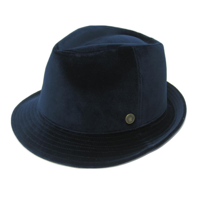 日本製 中折れハット メンズ 中折れ帽 中折れ 帽子 ベルベットハット(ネイビー)ベルベット GARYU PLANET ガリュープラネット メンズ・紳士 男性用 女性 男女兼用 帽子 父の日 誕生日 バレンタイン お祝い ギフト プレゼント