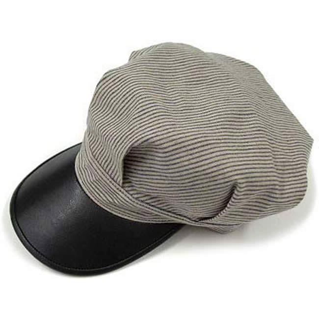 日本製 ワークキャップ メンズ 帽子 レイルロード・キャップ ハット インディゴストライプ ワークキャップ(ヒッコリー風) 56~61cm  GARYU PLANET ガリュープラネット メンズ・紳士 男性用 女性 男女兼用 帽子 ハット