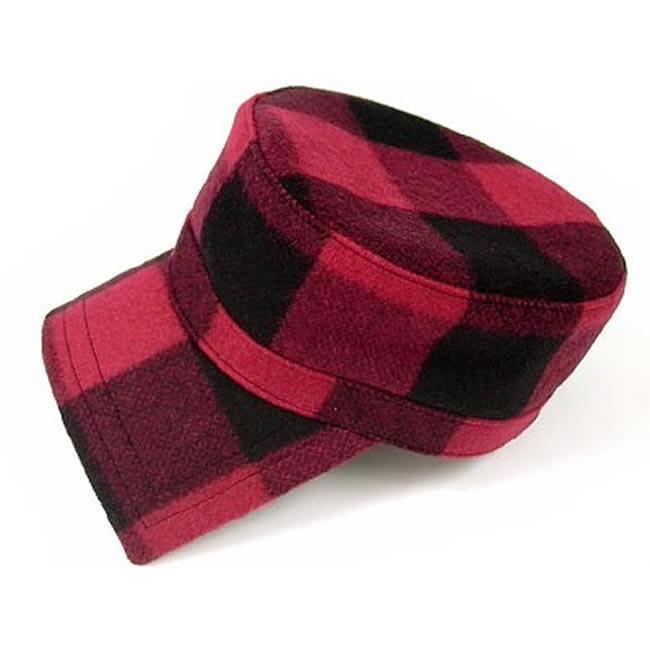 日本製 ワークキャップ メンズ 帽子 キャップ ハット バッファローチェック ウール ワークキャップ(赤)56cm~60cm  GARYU PLANET ガリュープラネット メンズ・紳士 男性用 女性 男女兼用 帽子