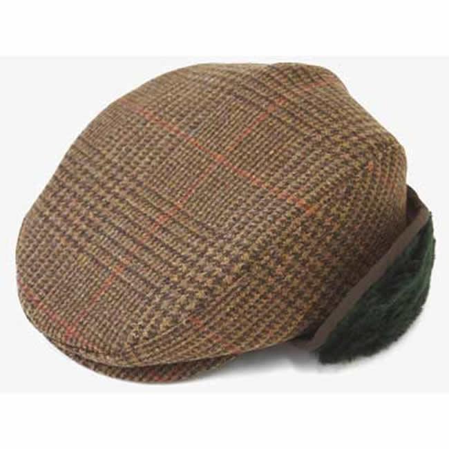 日本製 ハンチング メンズ ハンチング帽 耳マフ イヤーマフ 付き チェック ツイード ハンチング(緑マフ)57~58.5cm  GARYU PLANET ガリュープラネット メンズ・紳士 男性用 男女兼用 帽子 ハット ぼうし