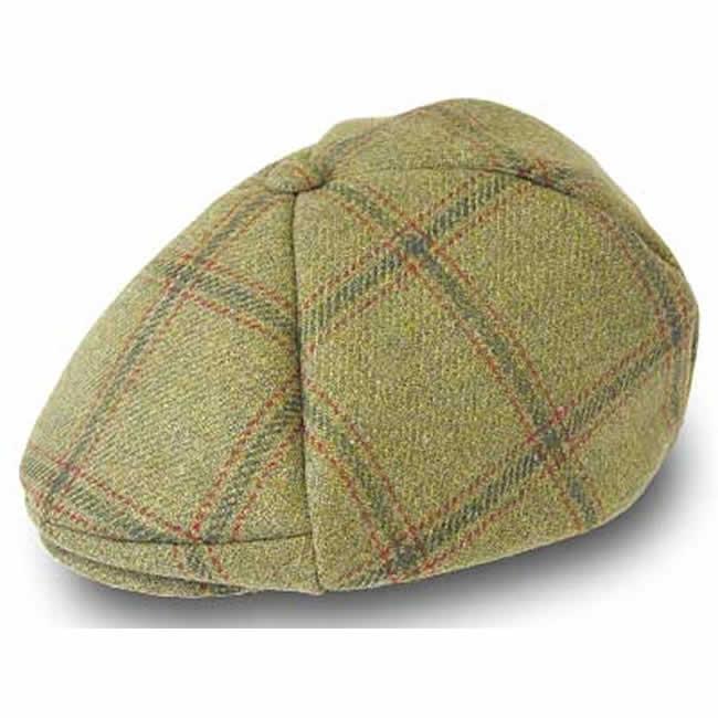 日本製 ハンチング メンズ ハンチング帽 チェックのスコットランド ツイード ハンチング帽子(草色)56.5cm GARYU PLANET ガリュープラネット メンズ・紳士 男性用 男女兼用 帽子 ハット ぼうし