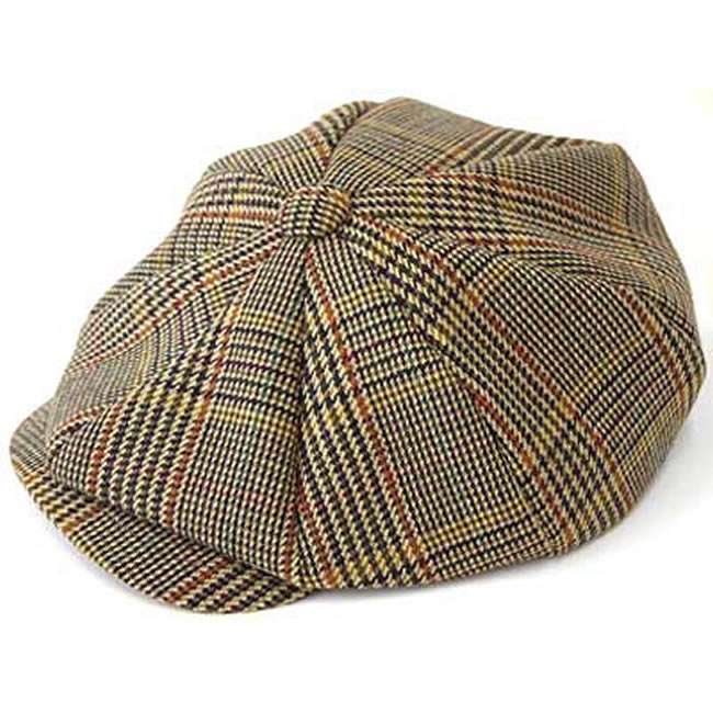 日本製 キャスケット メンズ キャスケット帽 帽子 チェックのイングランド ツイード キャスケット(マルチ9)  GARYU PLANET ガリュープラネット メンズ・紳士 男性用 女性 男女兼用 帽子