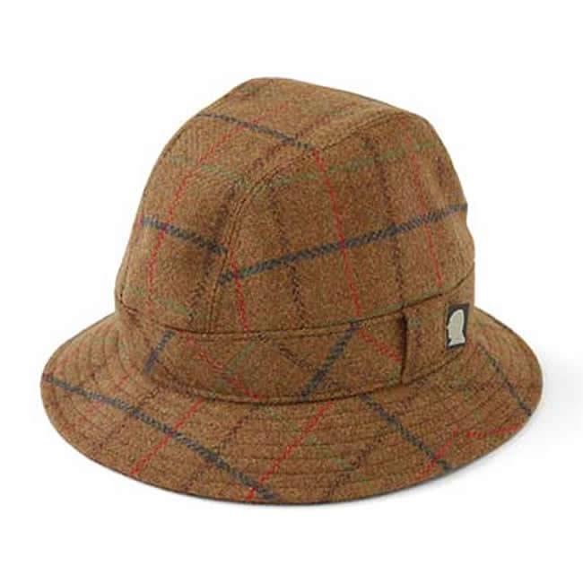 日本製 中折れハット メンズ 中折れ帽 中折れ 帽子 毛ウール 100% スコットランドツイードウォーキングハット(赤茶)56~58cm GARYU PLANET ガリュープラネット メンズ・紳士 男性用 女性 男女兼用 帽子 ぼうし ハット