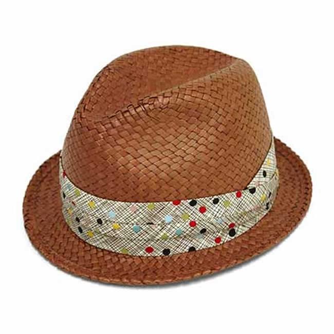 日本製 ストローハット 中折れ帽 フェドラ帽 パンダンフェドラハット(レッドブラウン) 58cm GARYU PLANET ガリュープラネット メンズ・紳士 男性用 帽子 ハット ぼうし