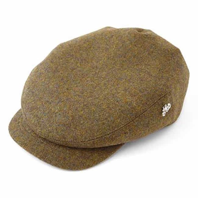 日本製 ハンチング メンズ 英国製ウール 毛100% ドッカー ハンチングM(ブラウン)56~58cm  GARYU PLANET ガリュープラネット 紳士 男性用 男女兼用 帽子 ハット ぼうし