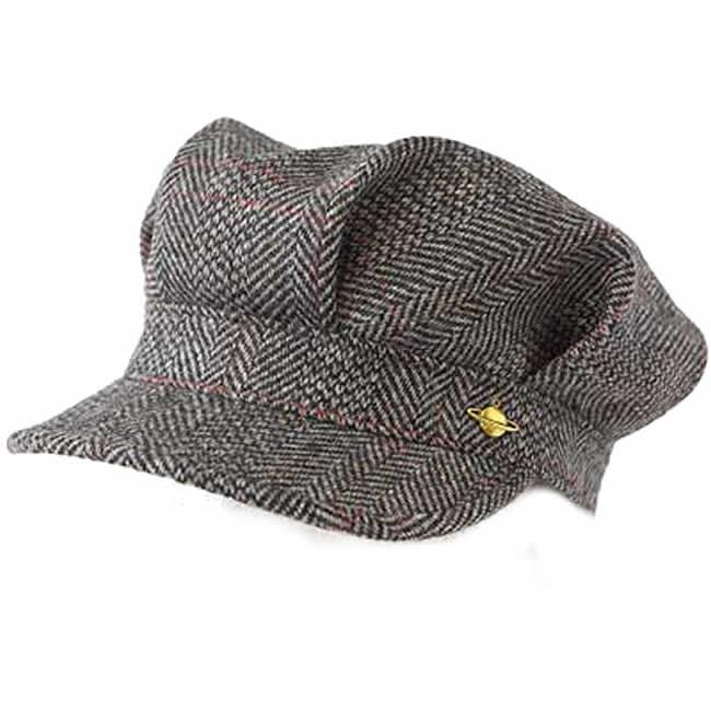 日本製 ワークキャップ メンズ 帽子 毛 ウール100% レイルロード キャップ スコットランドツイードレイルワークM(グレー) 56~58cm GARYU PLANET ガリュープラネット 紳士 男性用 女性 男女兼用 帽子 ハット